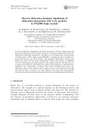 Discrete dislocation dynamics simulations of dislocation interactions ...