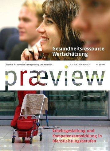 Gesundheitsressource Wertschätzung - Zeitschrift praeview