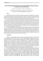des études préliminaires sur les nouvelles méthodes ... - Apimondia