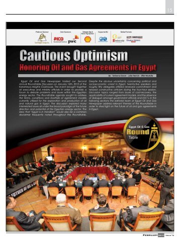 Round Table EOG Newspaper February 2013 Issue - Egypt Oil & Gas