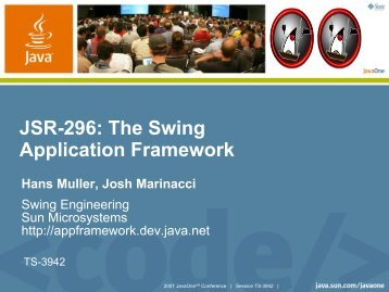 JSR-296: The Swing Application Framework - Java
