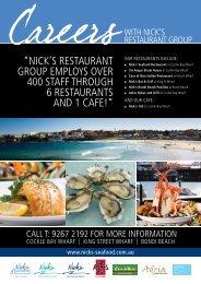 nicK's restaurant grOup emplOys - Nick's Seafood Restaurants