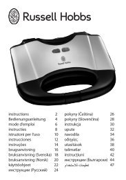 instructions 2 Bedienungsanleitung 4 mode d ... - Russell Hobbs
