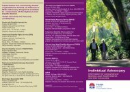 Individual Advocacy - Sydney Local Health District