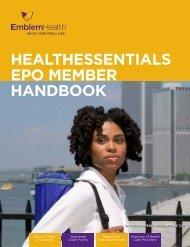 HealtHessentials ePO member HandbOOk - EmblemHealth