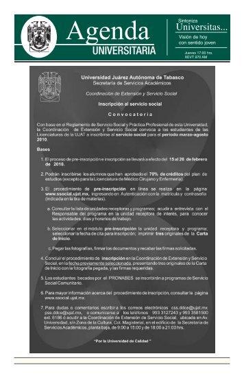 Agenda Universitaria - Publicaciones