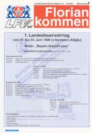 1. Landesfeuerwehrtag - Landesfeuerwehrverband Bayern
