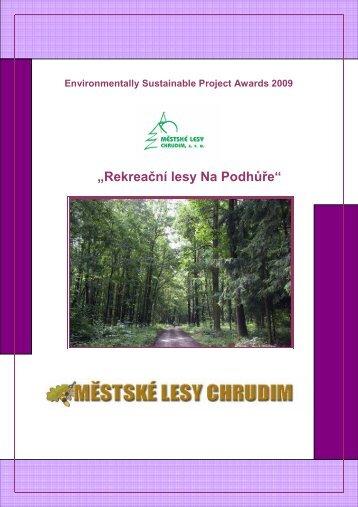 projekt Městské lesy Na Podhůře - Chrudim