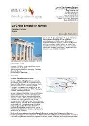La Grèce antique en famille - Arts et Vie