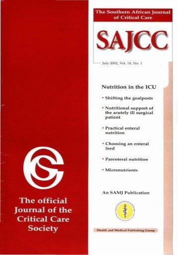 No.1 Vol.18, July 2002.pdf - SAJCC Archive Browser - Southern ...