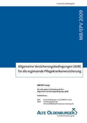 MB/EPV 2009 - Private Pflegeversicherung