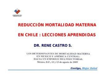 reducción mortalidad materna en chile : lecciones aprendidas - CINU
