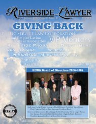 RCBA Board of Directors 2006-2007 - Riverside County Bar ...
