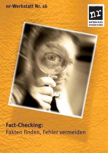 Fact-Checking - Netzwerk Recherche