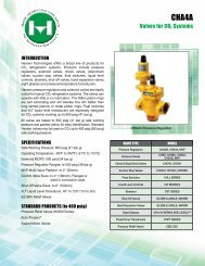 Valves for CO2 Systems - Hansen Technologies