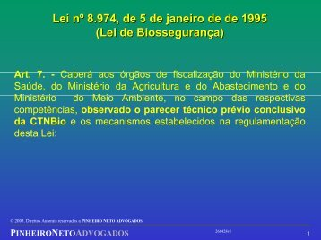 Lei nº 8.974, de 5 de janeiro de de 1995 \(Lei de ... - CIB