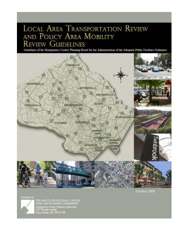 local area transportation review guidelines - Montgomery County ...