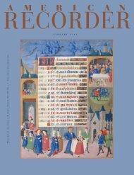 j a n u a r y 2 0 1 1 - American Recorder Society