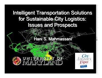 city logistics - Transportation Center