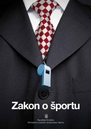 Zakon o sportu HR - Ministarstvo znanosti, obrazovanja i Å¡porta
