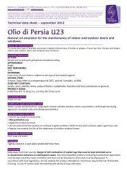 Technical data sheet – september 2012 Natural oil emulsion ... - Solas