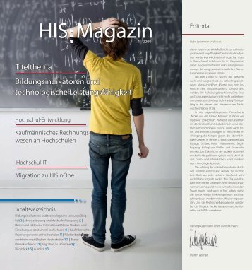 HIS:Magazin 4|2009 - Hochschul-Informations-System GmbH