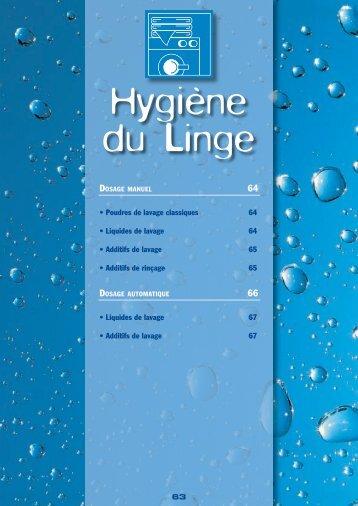 • Poudres de lavage classiques 64 • Liquides de lavage ... - Socoldis