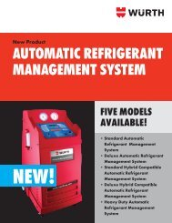 AUTOMATIC REFRIGERANT MANAGEMENT SYSTEM - Wurth USA