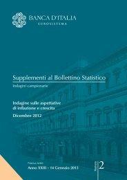 indagine sulle aspettative di inflazione e crescita - Banca d'Italia