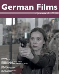 2008 A Meeting for German and French Filmmakers ... - German Films