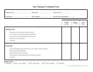 Store Manager Evaluation Form - Land O'Lakes Inc.