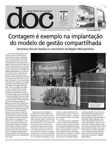 Diário Oficial Nº 2365 - Prefeitura de Contagem