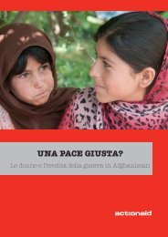 Una pace giusta? - Le donne e l'eredità della guerra in ... - ActionAid