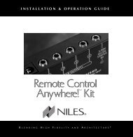 Remote Control Anywhere! - Niles Audio