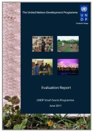 UNDP Small Grants Programme Evaluation Report June 2011