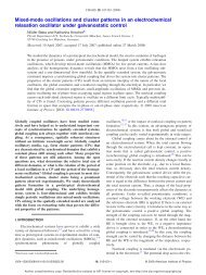 Mixed-mode oscillations and cluster patterns in an electrochemical ...