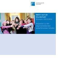 Wohin nach der Grundschule? Schuljahr 2013/2014 - Düsseldorf