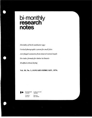 Bi-Monthly Research Notes: Vol 30, No 1-6 - NFIS