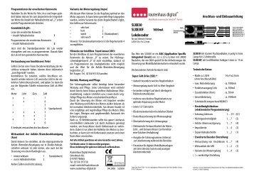 Anleitung zum Lokdecoder SLX830 - MDVR