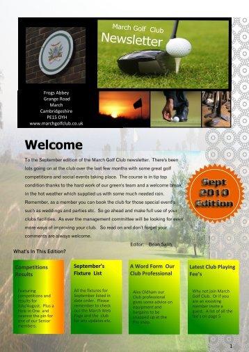 September Newsletter - March Golf Club