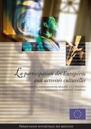 La participation des Européens aux activités culturelles - European ...