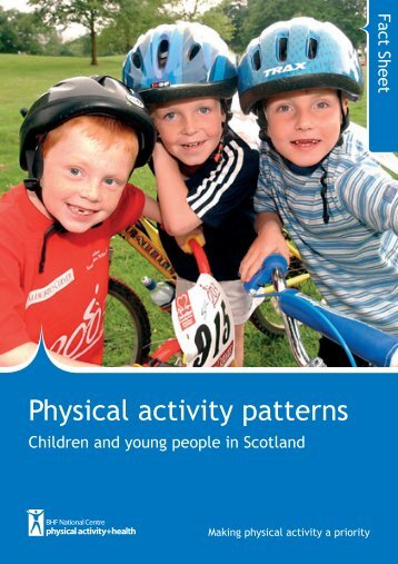 Physical activity patterns - children and young people in Scotland
