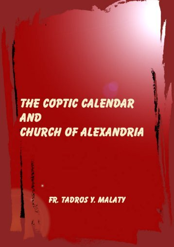 The Coptic calendar and the church