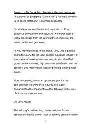 Speech by Mr Derek Teo, President, General Insurance Association ...