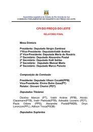 CPI DO PREÇO DO LEITE - Assembléia Legislativa