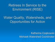 Water Quality, Watersheds, and Opportunities for Action