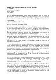 Protokoll der Sitzung vom 26.09.2005 - Gymnasium am Moltkeplatz