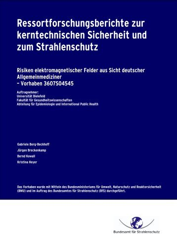 Risiken elektromagnetischer Felder aus Sicht deutscher ...