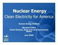 Nuclear Energy Institute - Consumer Energy Alliance