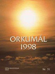 Orkumál nr. 51 - 1998 - Orkustofnun